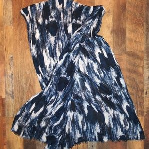 Nordstrom Accessories - DARK NAVY BLUE AND WHITE WATERCOLOR TIE DYE SCARF